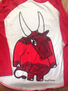 HALF PRICE SALE - Kids Minotaur Baseball Top