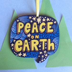 Peace on Earth decoration