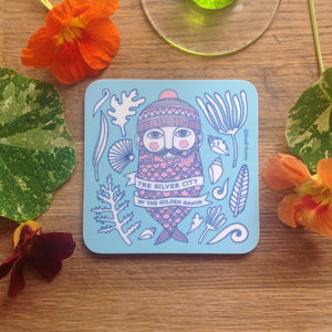 Pack of 4 Fishman & Fishwife coasters