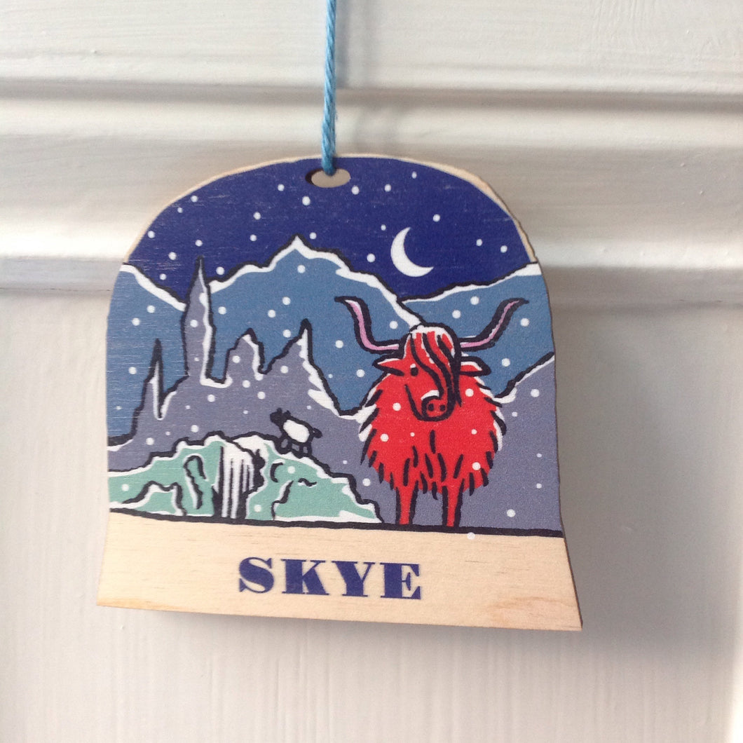 Isle of Skye snow globe decoration