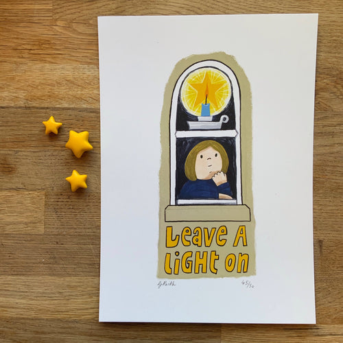 Leave a light on print