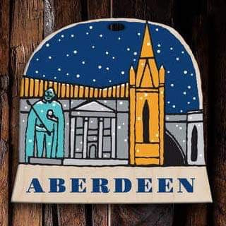 Aberdeen snow globe decoration