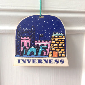 Inverness snow globe decoration