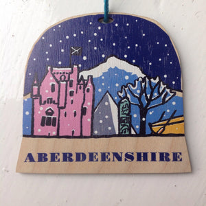 Aberdeenshire snow globe decoration