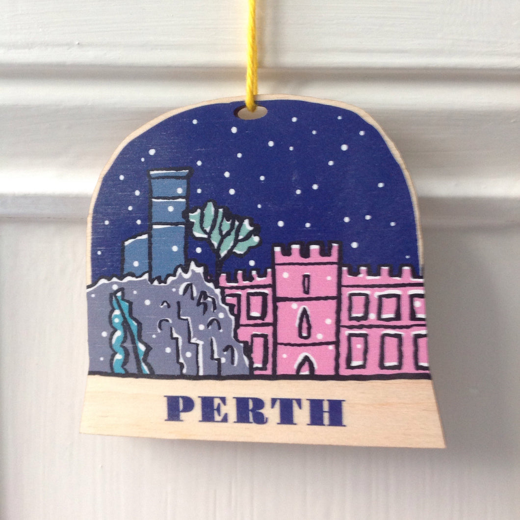 Perth snow globe decoration