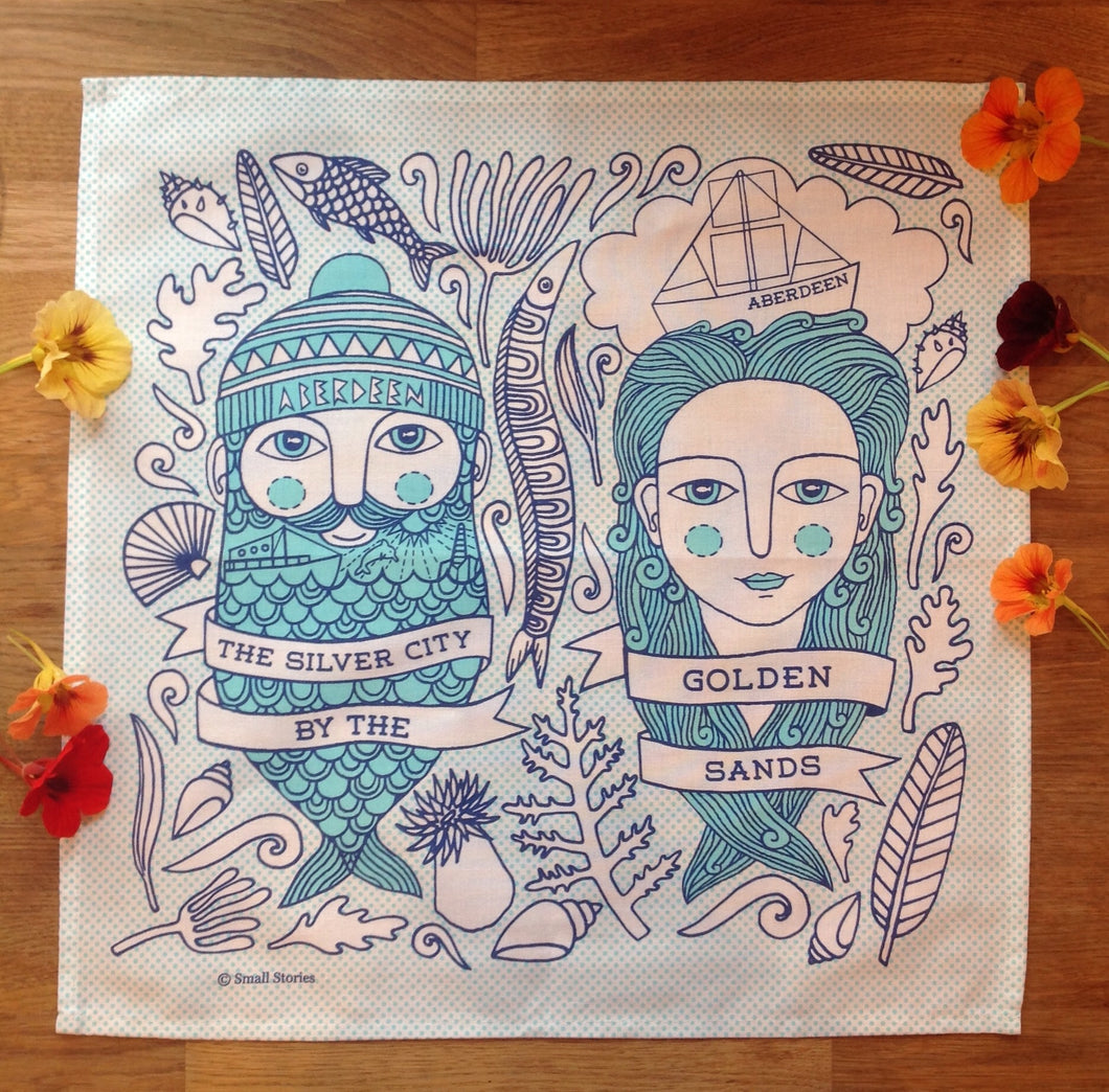 Aberdeen Fishman and Fishwife napkins set