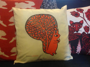 HALF PRICE SALE - Squirrel cushion cover