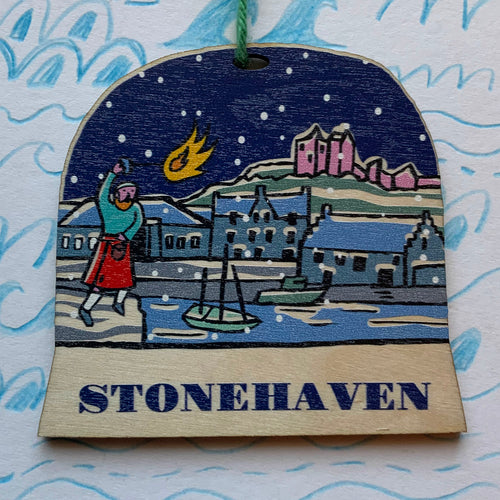 Stonehaven snow globe decoration