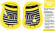 Sale- Burglar bird tea towel