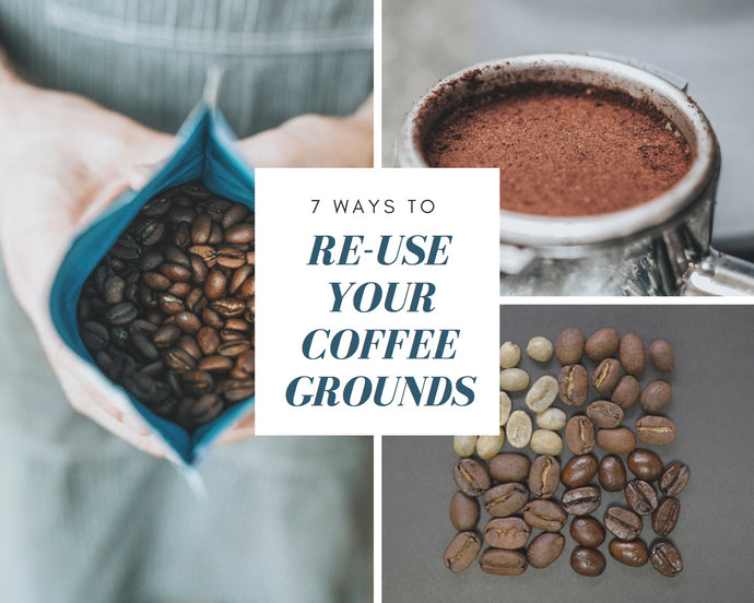 7 Ways to Re-use Your Coffee Grounds