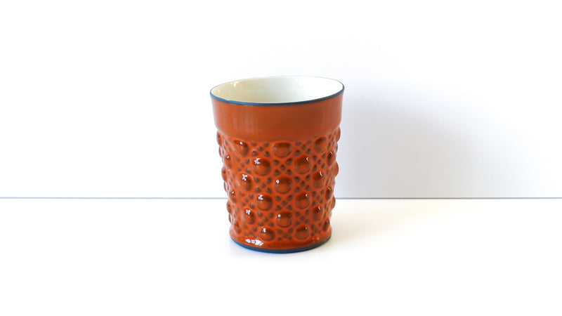 ornate porcelain tumbler glass
