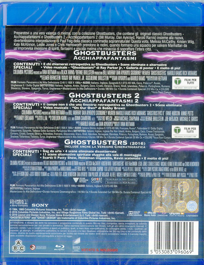 Ghostbusters Collection (Box 3 Br)  [Blu-Ray x 3]