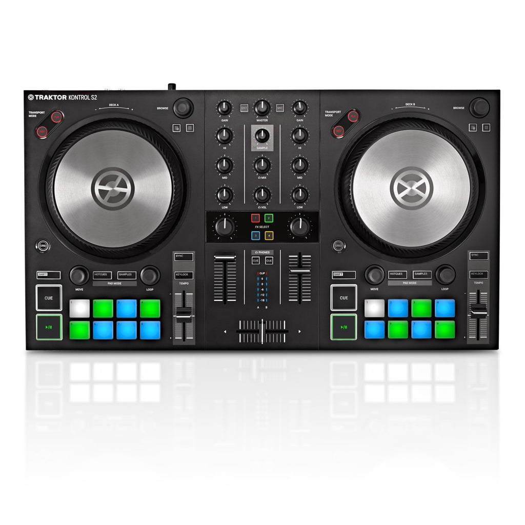 NATIVE INSTUMENTS TRAKTOR KONTROL S2 MKIII CONTROLLER MIDI USB 2 DECK + INTERFACCIA AUDIO 4 CANALI