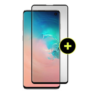 Gadget Guard - Samsung Galaxy S10 Black Ice Plus Cornice Flex Screen Protector  - Clear