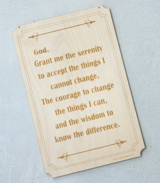 Inspirational Hand Made Wall Signs - Serenity Prayer