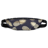 Gold and Navy Pineapple Hip Bag - Esdee Designs