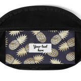 Gold and Navy Pineapple Hip Bag
