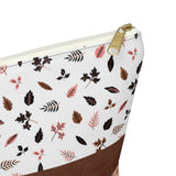 Bohemian Floral Accessory Pouch w T-bottom