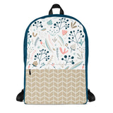 Fall Floral Backpack Laptop Bag