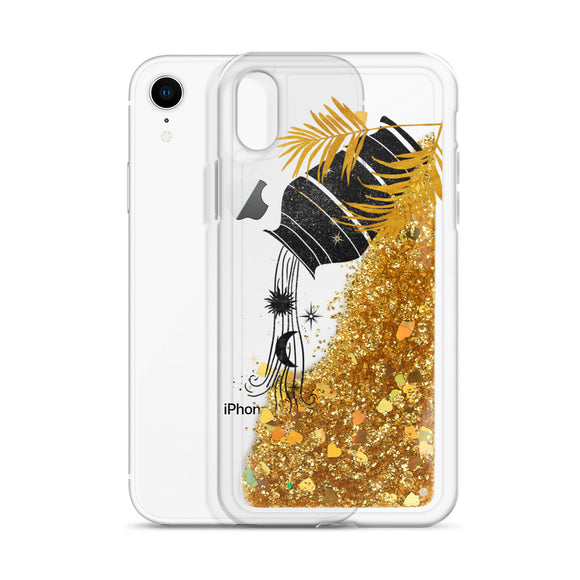 Celestial Amphora Glitter Iphone Case