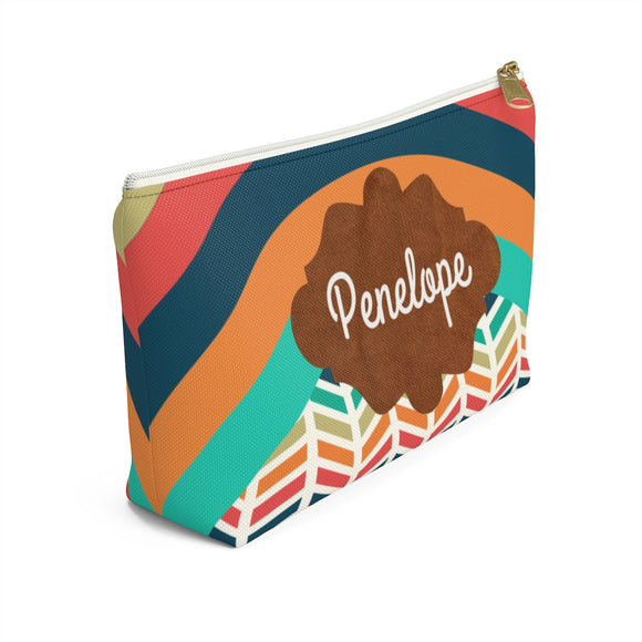 Bright Retro Accessory Pouch