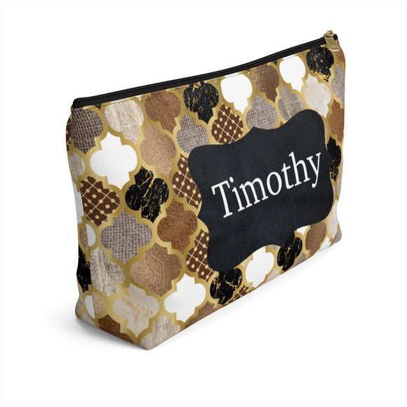Quatrefoil Accessory Pouch with T-bottom