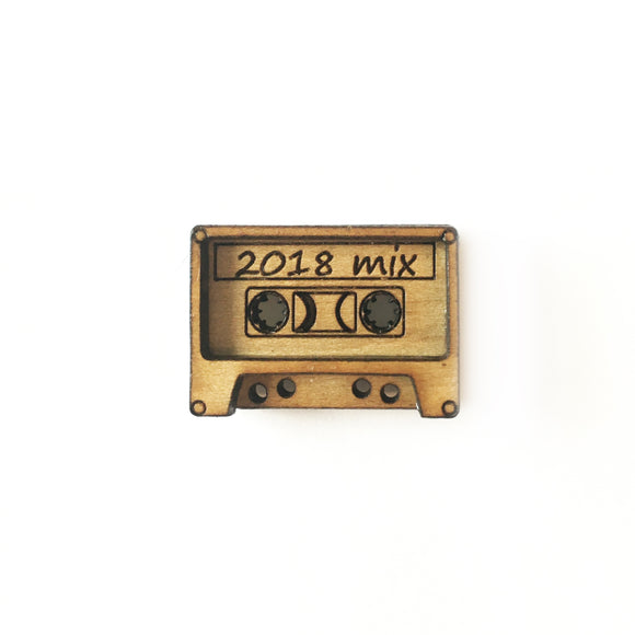 Cassette Tape Lapel Pin/Magnet - Esdee Designs