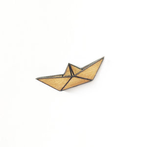 Origami Boat Lapel Pin/Magnet - Esdee Designs