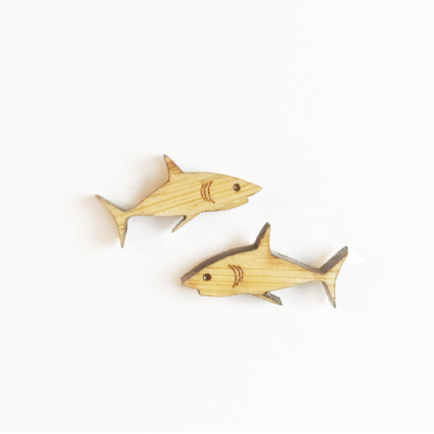 Shark Stud Earrings - Esdee Designs