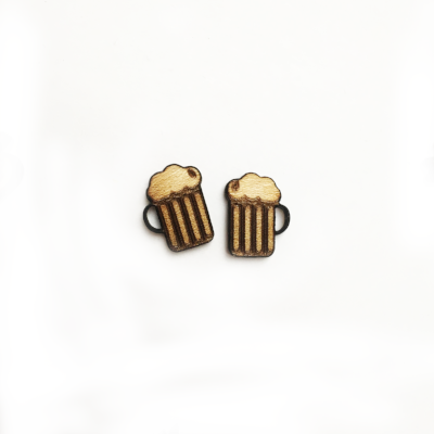 Beer Stud Earrings - Esdee Designs