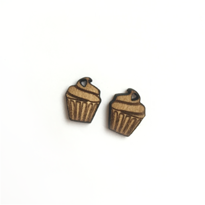 Cupcake Stud Earrings - Esdee Designs