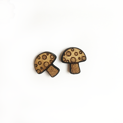 Mushroom Stud Earrings - Esdee Designs