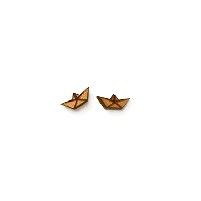 Origami Boat Stud Earrings - Esdee Designs