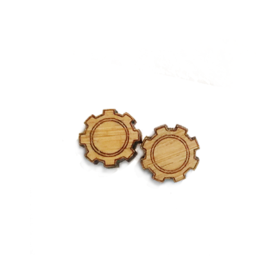 Gear Stud Earrings - Esdee Designs