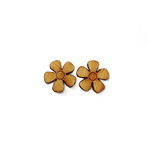 Flower Stud Earrings Version 2 - Esdee Designs