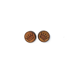 Crown Stud Earrings - Esdee Designs