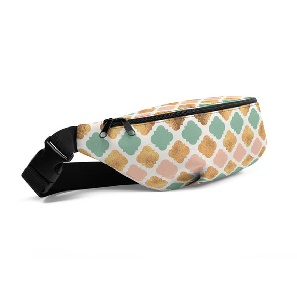 Green and Gold Hip Bag - Esdee Designs