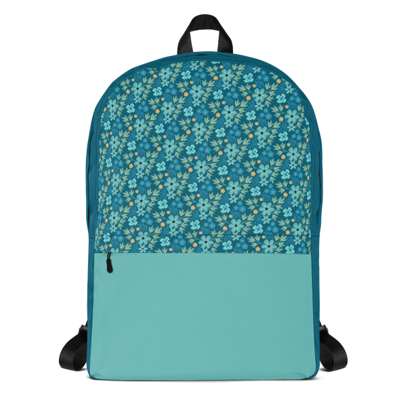Floral Sea Backpack Laptop Bag