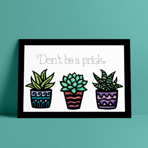 Succulent multi layer watercolor print - Esdee Designs