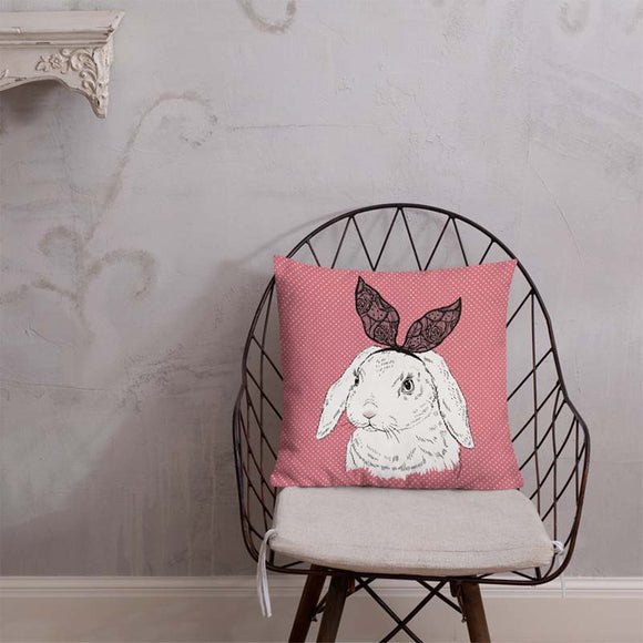 Pretty Bunny Indoor Outdoor Accent Pillow - Esdee Designs
