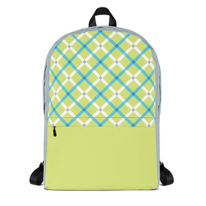 Plaid Brights Backpack Laptop Bag
