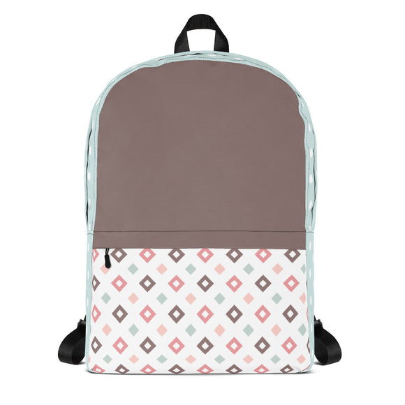 Pastel Diamonds Backpack Laptop Bag