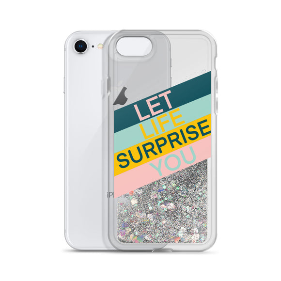 Inspirational Liquid Glitter Iphone Case
