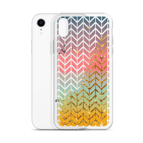 Chevron Liquid Glitter Iphone Case