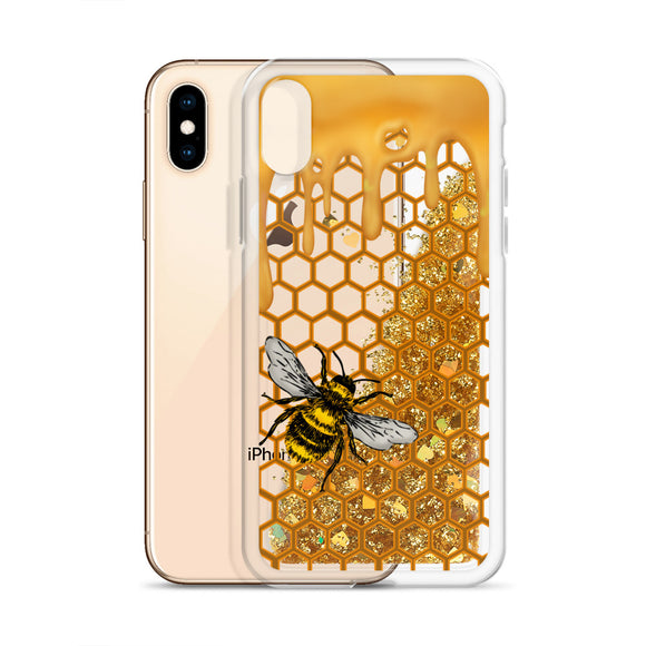Honey Bee Glitter Iphone Case