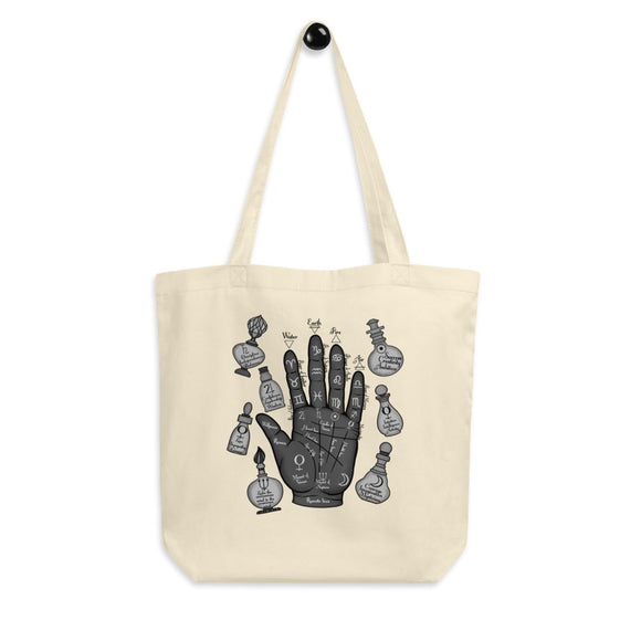 Palm Reading Organic Cotton Tote Bag - Esdee Designs