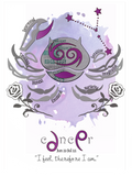 Cancer horoscope metallic art print - Esdee Designs