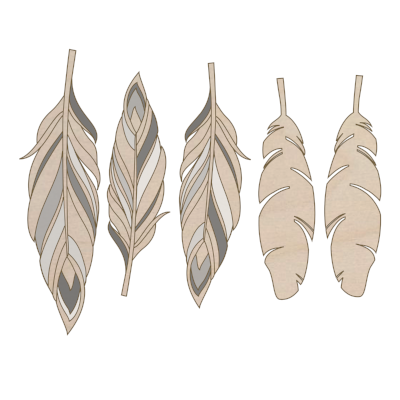 5 large feathers add on kit - Esdee Designs