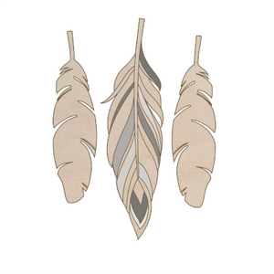 3 large feathers add on kit - Esdee Designs