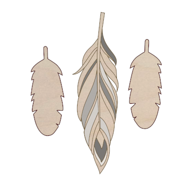 3 small feathers add on kit - Esdee Designs